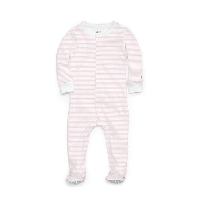 Organic Footed Pajama, Pink Stripe