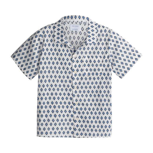 *Exclusive* Rowan Short Sleeve Button Down, Blue Diamond
