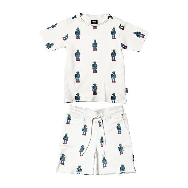 *Exclusive* Robot T-Shirt/Short Set - Mixed Apparel Set - 1