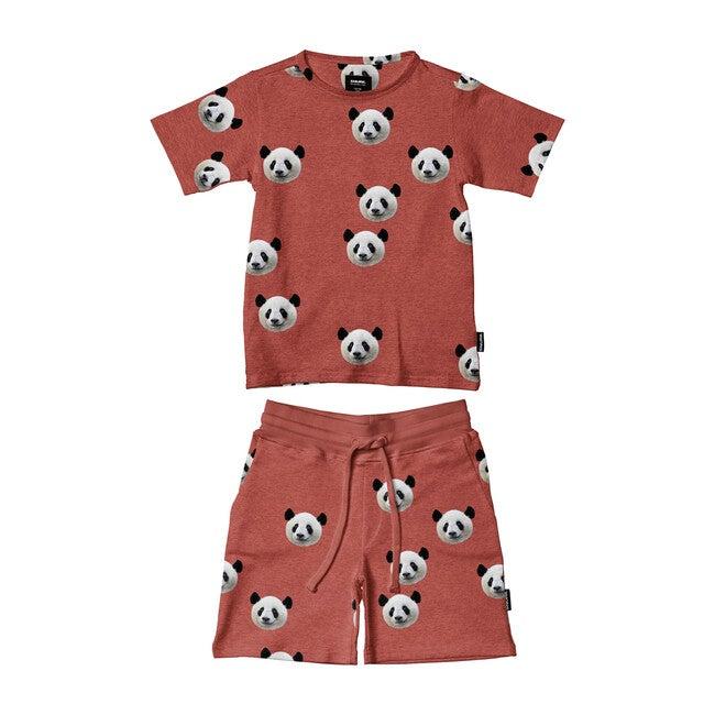 *Exclusive* Lazy Panda T-Shirt/Short Set
