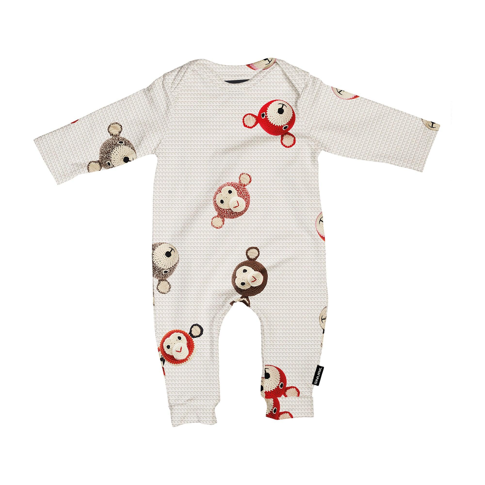 x Anne-Claire Petit *Exclusive* Teddy/Chimp Baby Jumpsuit