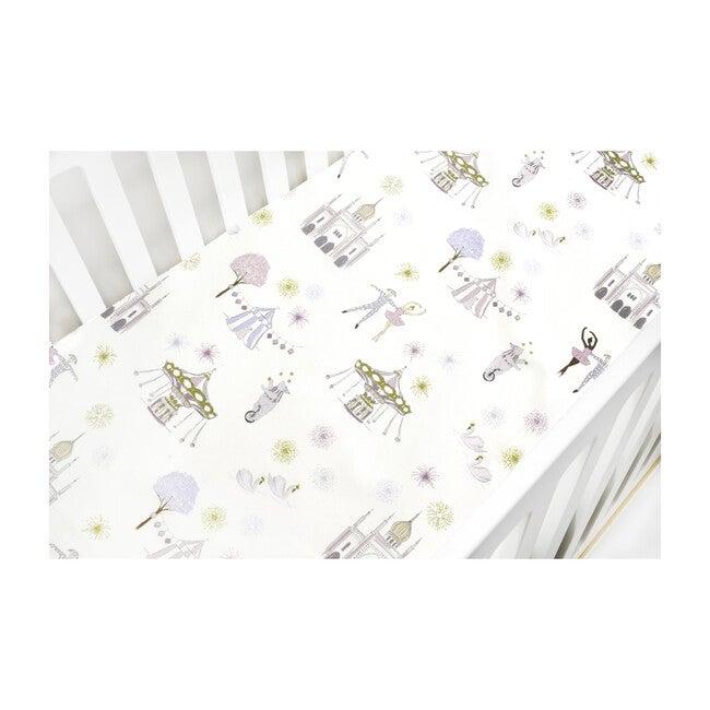 *Exclusive* Adventures in Wonderland Crib Sheet, Rose