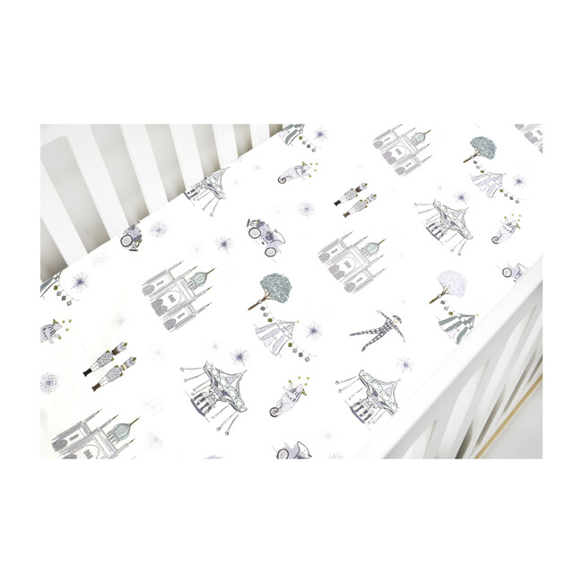 *Exclusive* Adventures in Wonderland Crib Sheet, Aqua
