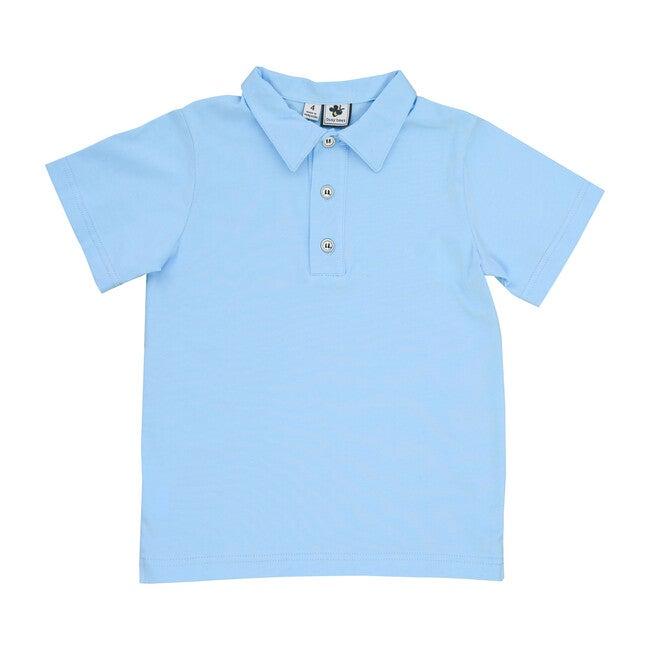 Knit Polo, Sky Blue - Polo Shirts - 1