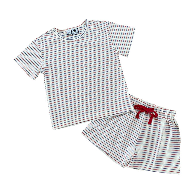 James Short Sleeve Lounge Set, Stripes