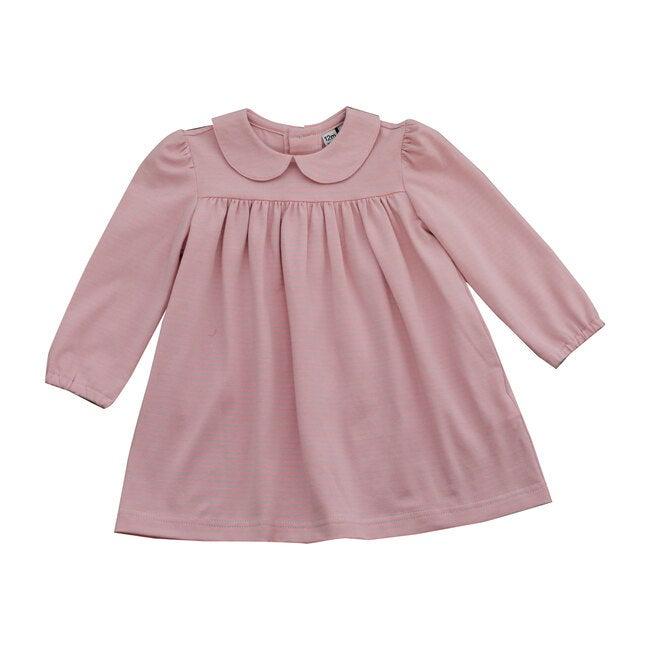 Ginny Peter Pan Collar Dress, Pink Blue Stripe