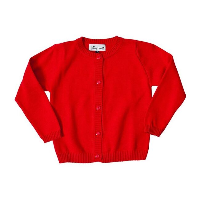 Classic Cardigan, Red