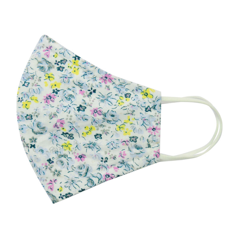Adult Cotton Face Mask, Wild Flower