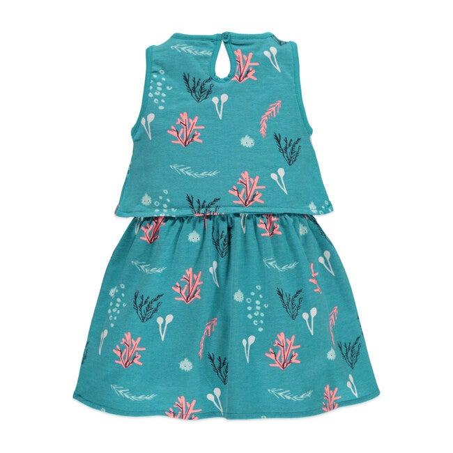 Print Dress, Sea Green