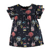 Print Dress, Dark Grey - Dresses - 1 - thumbnail