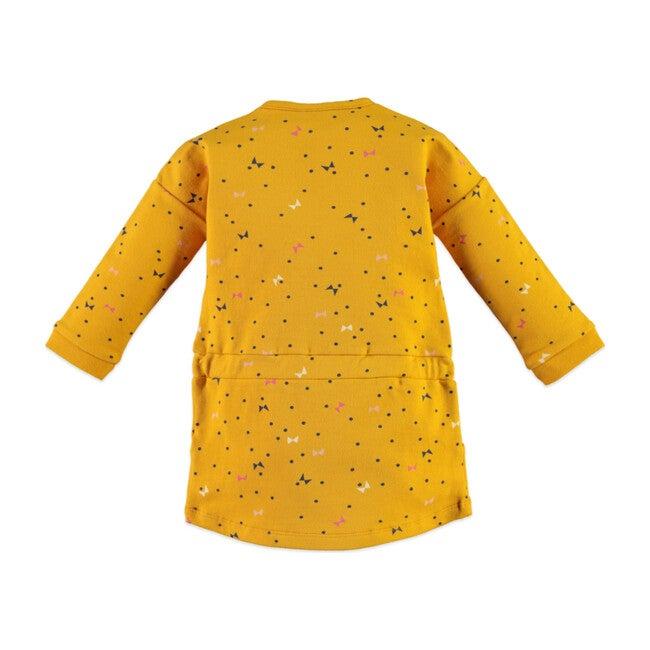 Flutter Print Dress, Mustard