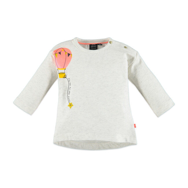 Balloon Long Sleeve T-Shirt, Crème Melee