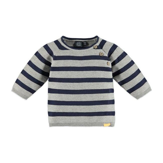 Stripes Sweatshirt, Grey Melee