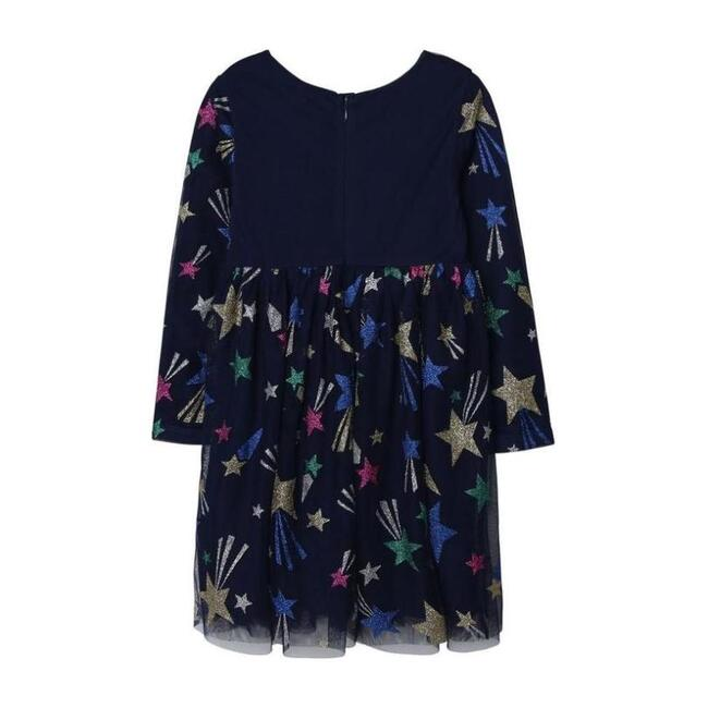 Star Graphic Dress, Navy