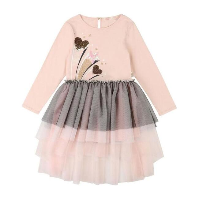 Shooting Hearts Jersey Dress, Pink