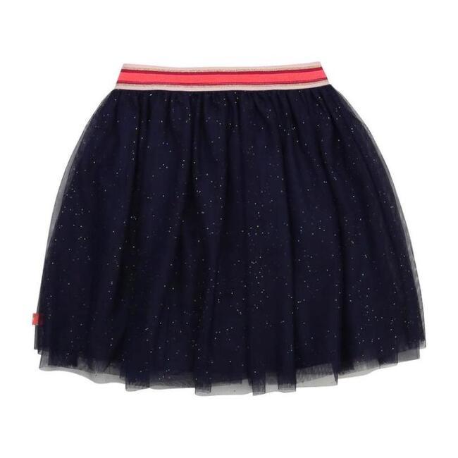 Glitter Tulle Skirt, Navy