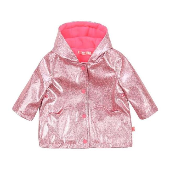 Shiny Glitter Raincoat, Pink
