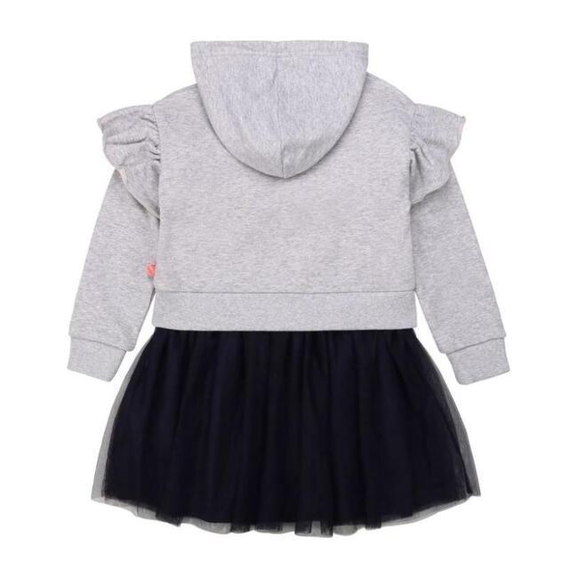Ruffle Jersey Dress, Gray