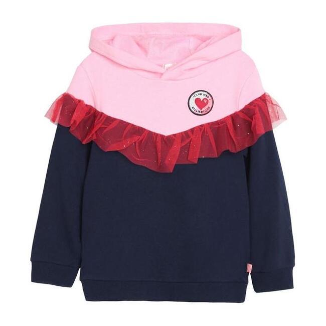 Red Ruffle Sweatshirt, Navy