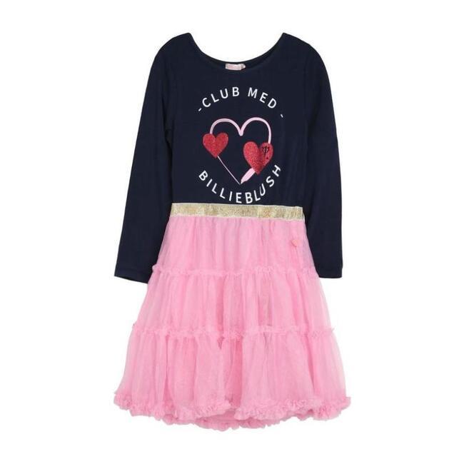 Pink Heart Jersey Dress, Pink