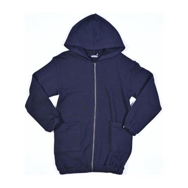 Oversized Zip Hooded Cardigan, Black