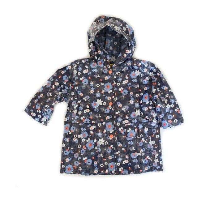 Raincoat Shell, Navy Flower