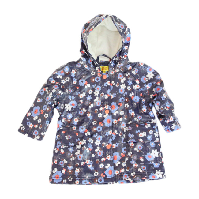Raincoat with Lining, Navy Flower