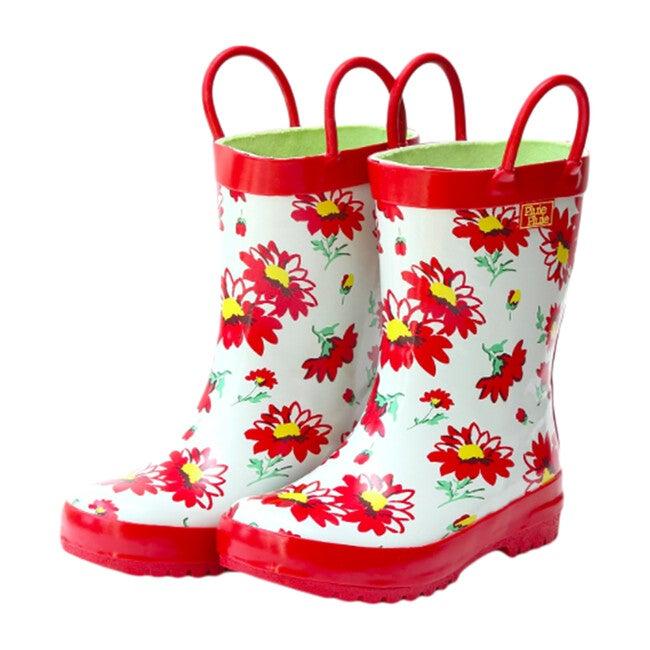 Rain Boots, Red Flower