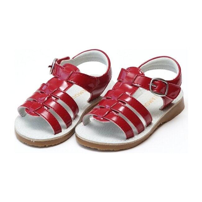 Saylor Fisherman Sandal, Red - Sandals - 1
