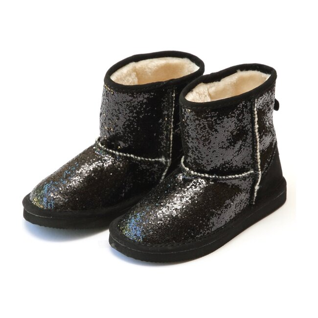 Glinda Girl's Sparkly Glitter Boot, Black