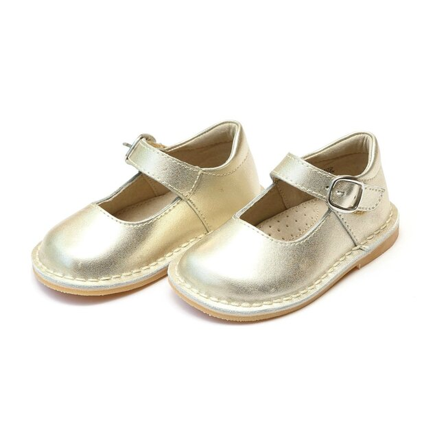 Grace Metallic Leather Stitch Down School Mary Jane, Gold