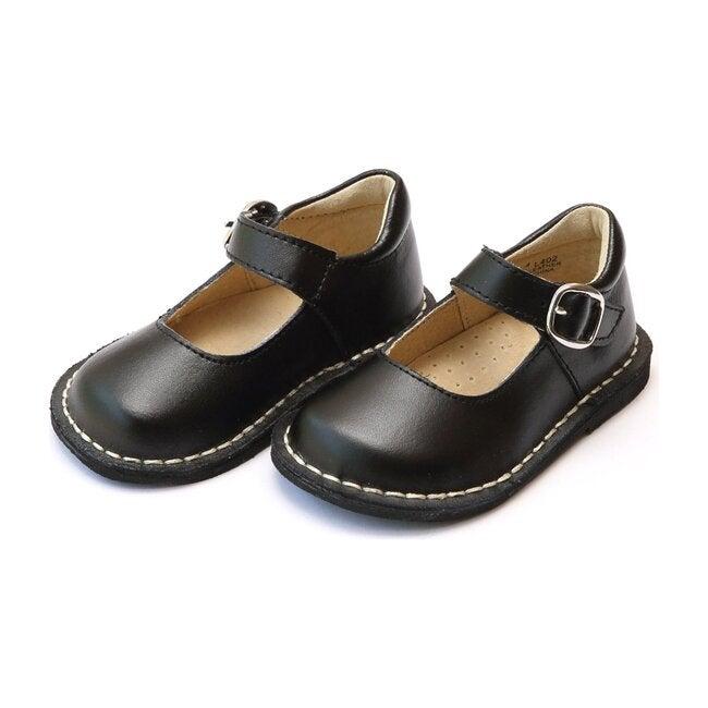Grace Leather Stitch Down School Mary Jane, Black
