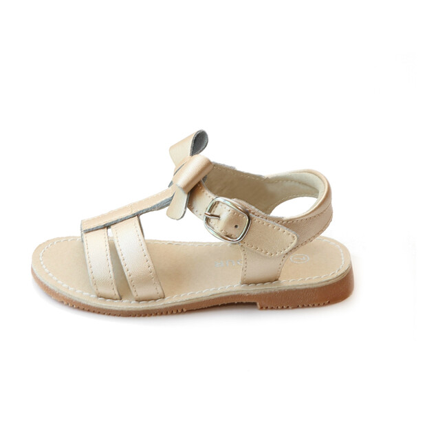 Janie T-Strap Bow Sandal, Champagne