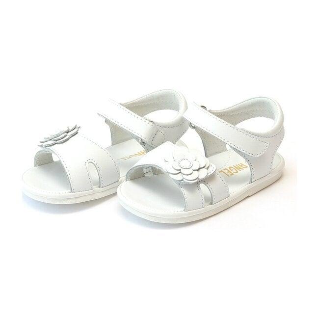 Mila Flower Sandal, White