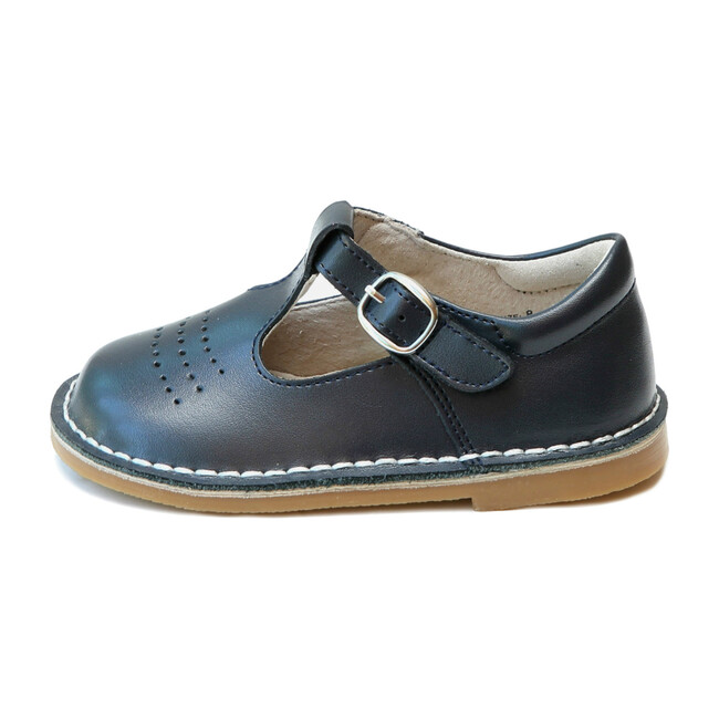Cecile T-Strap Dotted Punch Mary Jane, Navy