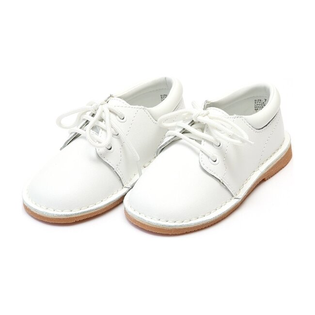 Tyler Stitch Down Leather Lace Up Shoe, White