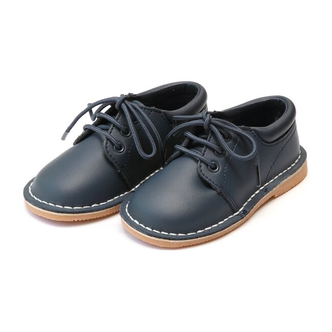 Tyler Stitch Down Leather Lace Up Shoe, Navy