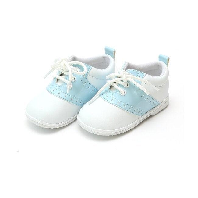 Baby Austin Leather Saddle Oxford Shoe, White