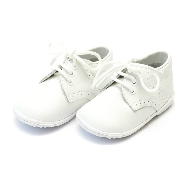 Baby James Leather Lace Up Shoe, White