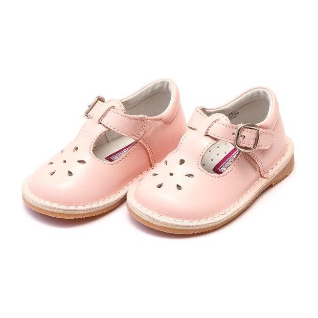 Joy Classic Leather Stitch Down T-Strap Mary Jane, Pink