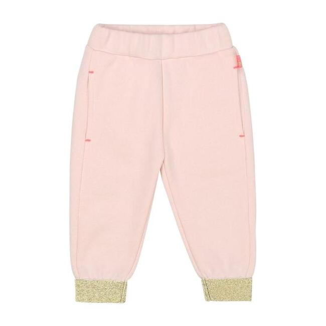 Gold Trim Jogging Bottoms, Pink