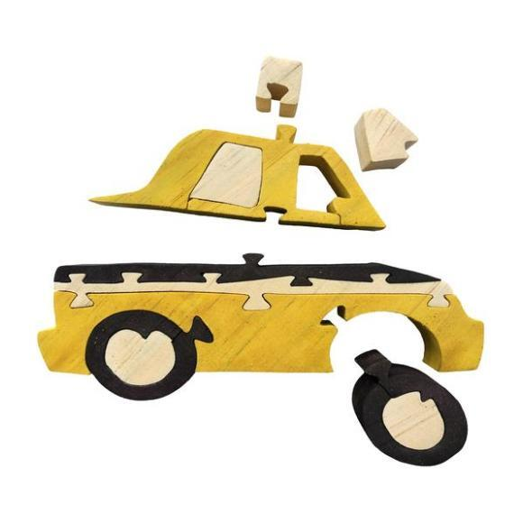 Taxi Wooden Puzzle