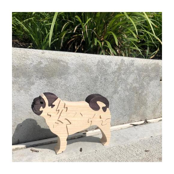 Pug Wooden Puzzle