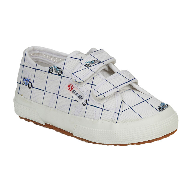*Exclusive* Canvas Velcro Sneaker, Blue Moto