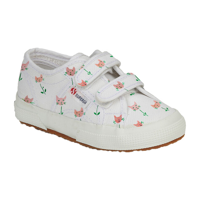 *Exclusive* Canvas Velcro Sneaker, Cat Tulips