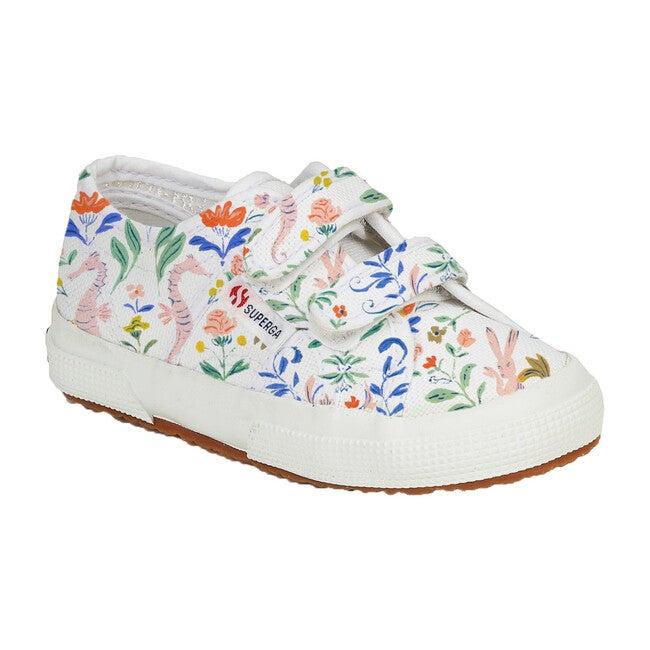 *Exclusive* Canvas Velcro Sneaker, Flowers & Rabbits