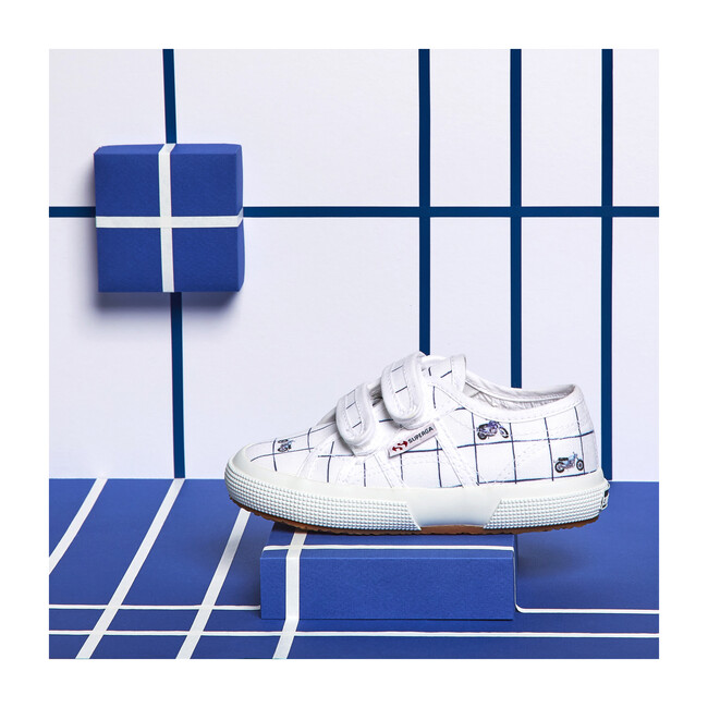 *Exclusive* Canvas Velcro Sneaker, Blue Moto