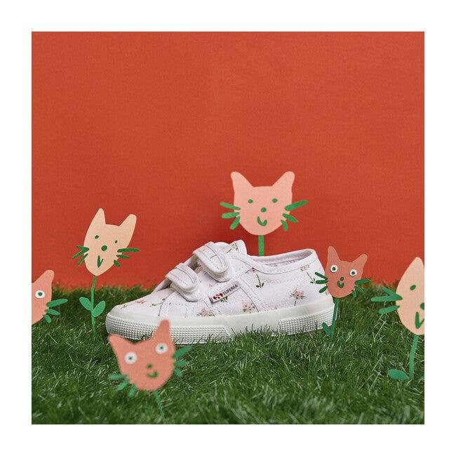 *Exclusive* Canvas Velcro Sneaker, Cat Tulips