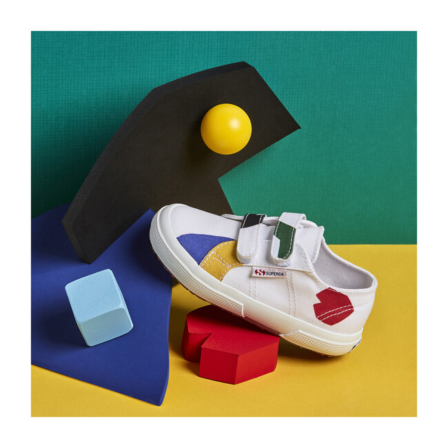 *Exclusive* Canvas Velcro Sneaker, Abstract Shapes