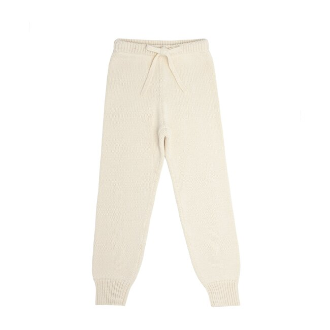 Cream Knit Pant